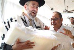 עם הרב הראשי דוד לאו